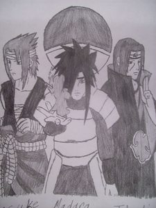 heres all the Uchihas left!!!! b4 Itachi died!!!!