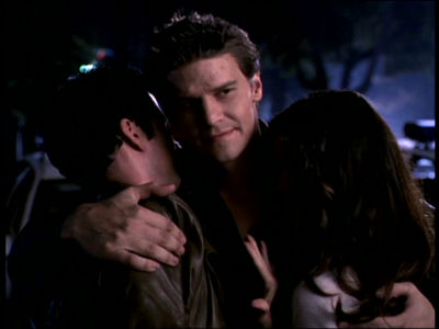 Well, for best laugh-out-loud moment, I was thinking possibly Angel hugging Cordy and Doyle in Sense