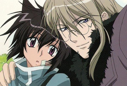 Ritsuka and Soubi from the animé Loveless(they actualy are a couple if u didnt know that)