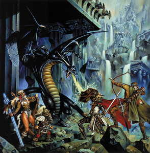 Cool idea :)<br /> I found this one by Clyde Caldwell, here&#39;s the site I got it from:<br /> <a href=&#34;