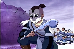 Yum! It was so funny to see those characters in that setting. Sokka's war paint