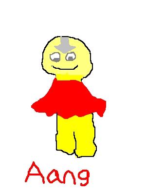 YUMYUMYUM!!!!! (This little Aang 123cosmo4 drew on paint)
