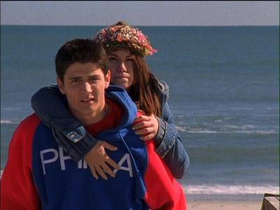 In 111 when they get drunk and Nathan gives Haley a piggy back ride You can hear Bethany say under he