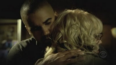 Yey! Thanks for playing the game!! Heres a pic of Garcia and morgan hugging!! Next: A picture of