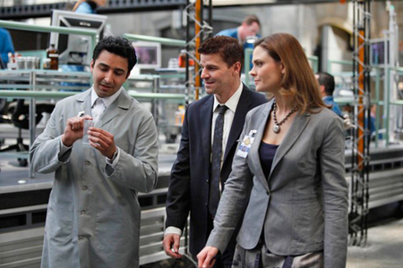 "Next: Booth and Brennan almost kiss in the episode ""A Night at the Bones Museum."""