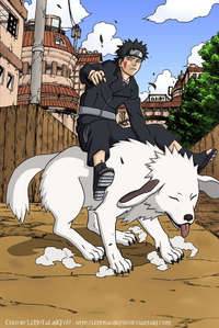 I think its black, and just his jacke is leather. =) Kiba is HOT!!!!!!!!!!!!!!!!!!!!!!!!!!!!!!!