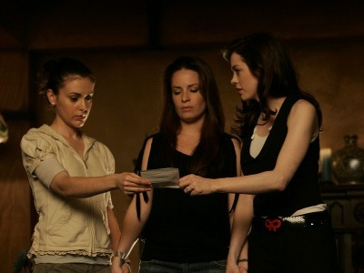 """She brought him to the Book of Shadows and gave a little nod to the Book.""""Go ahead,touch it"""" Cole hes"""