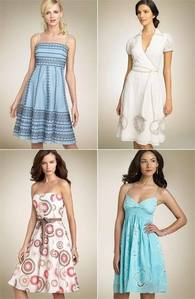 ok bridesmaid dresses i was thinking we use all of them so each bridesmaid has diff dress