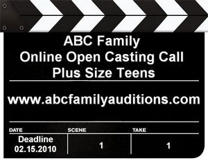 ABC Family is currently conducting an online open casting call for plus-size teen actors, both male a