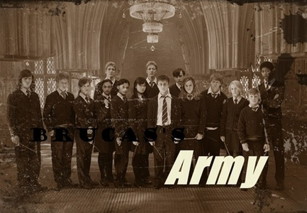 On Harry Potter they have dumbledore'S army, to hunt down Voldemort and kill him. Well with the n