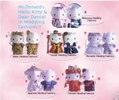 Anyone keen to purchase the full set of McDonald 年 2000 Hello Kitty & Dear Daniel plush (completel