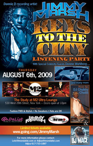 "Donnie D recording artist Jimmy Marsh Jimmy Marsh "" Keys to the City"" Listening Party NEW Y"