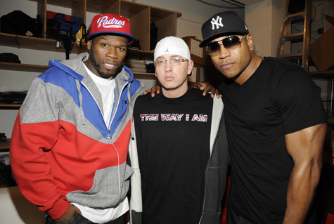50cent,Eminem and ll cool j