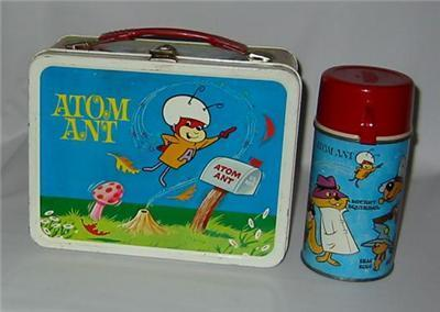 Lunch Boxes karatasi la kupamba ukuta called Atom Ant Vintage 1966 Lunch Box