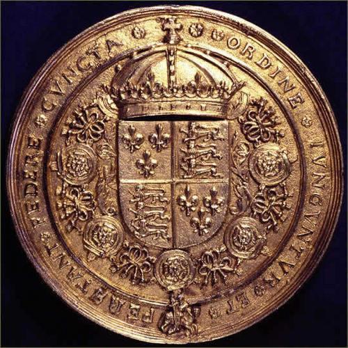 Back Side of Gold foca, selo of Henry VIII