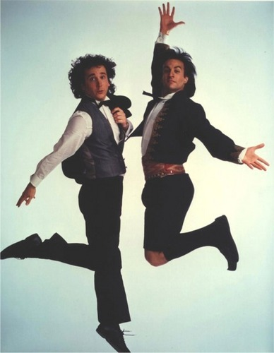 Perfect Strangers wallpaper with a well dressed person entitled Balki & Larry