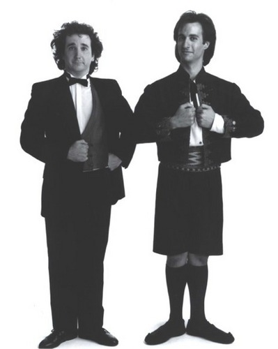 Perfect Strangers wallpaper probably containing a business suit called Balki & Larry