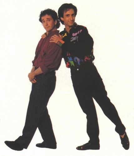 Perfect Strangers wallpaper containing a well dressed person and a business suit called Balki & Larry