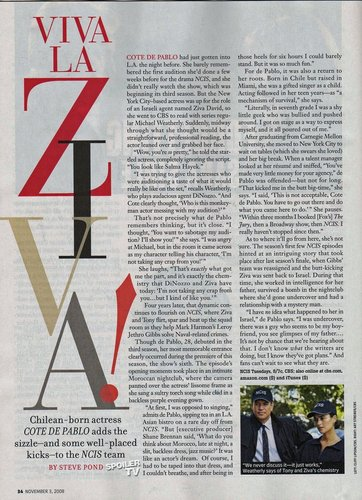 Cote de Pablo (Ziva) Interview