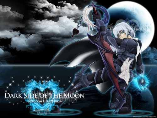 kingdom hearts fondo de pantalla titled DARK SIDE OF THE MOON RIKU