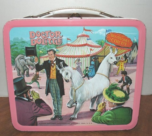 Lunch Boxes karatasi la kupamba ukuta with anime titled Dr. Dolittle Vintage 1957 Lunch Box