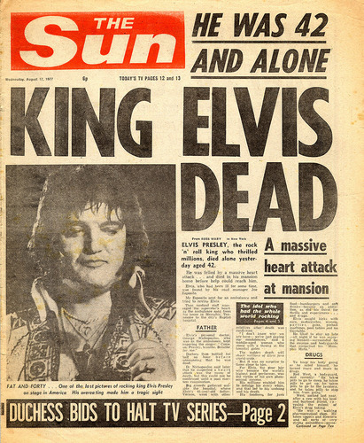 Elvis: The Day The King Died! - rocknroll-remembered Photo