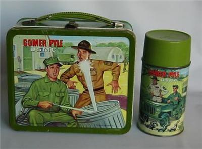 Lunch Boxes karatasi la kupamba ukuta called Gomer Pyle, USMC Vintage 1966 Lunch Box