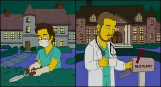 Mark and Derek on the Simpsons