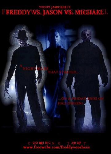 Horror films achtergrond titled Michael Myers kick ezel