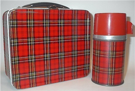Plaid Vintage 1955 Lunch Box