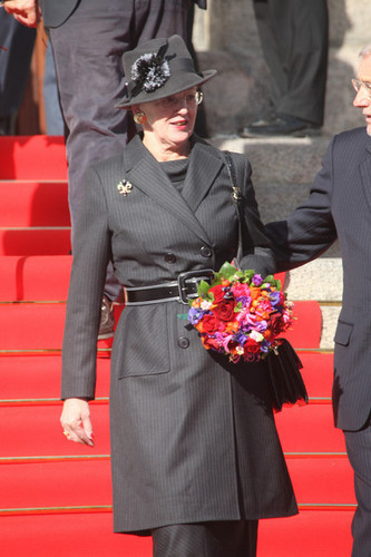 Present dia queen Margrethe of Denmark