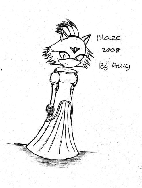 blaze cat. Princess Blaze the cat