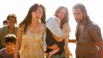 Sun,Kate,Aaron and Sayid