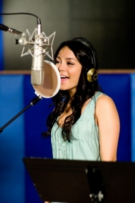 Vanessa recording HSM Songs