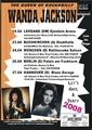 Wanda Jackson 2008 Concert Poster