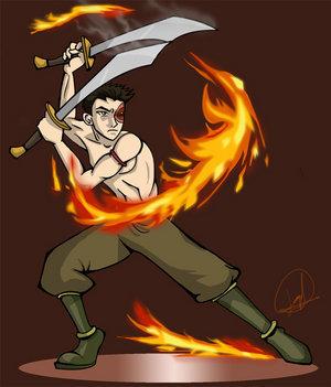 آگ کے, آگ blades