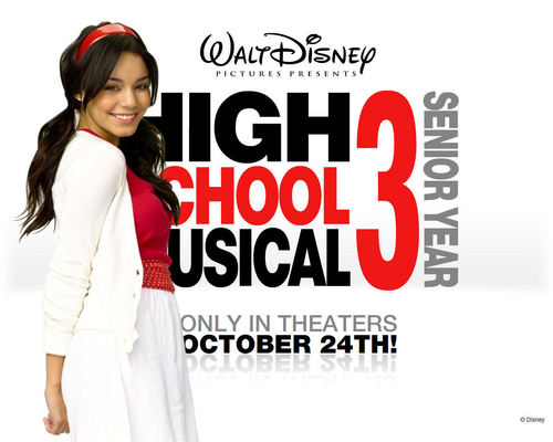 High School Musical 3 achtergrond possibly with a avondeten, diner dress and a portrait called vanessa hudgens