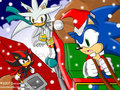 3 hedgehogs christmas - sonic-christmas photo