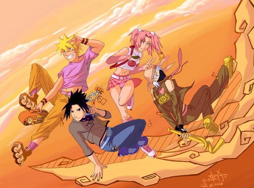 Air Gear and Naruto Crossover