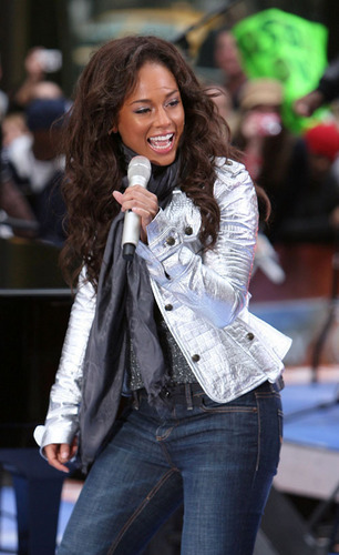 Alicia Keys on the Today Zeigen