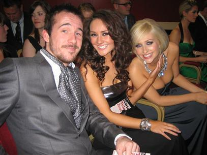 Barry Sloane (Niall) with on screen sisters Claire Cooper (Jacqui) and Gemma Merna (Carmel)