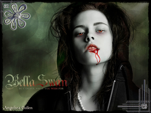 Bella cygne as a vampire