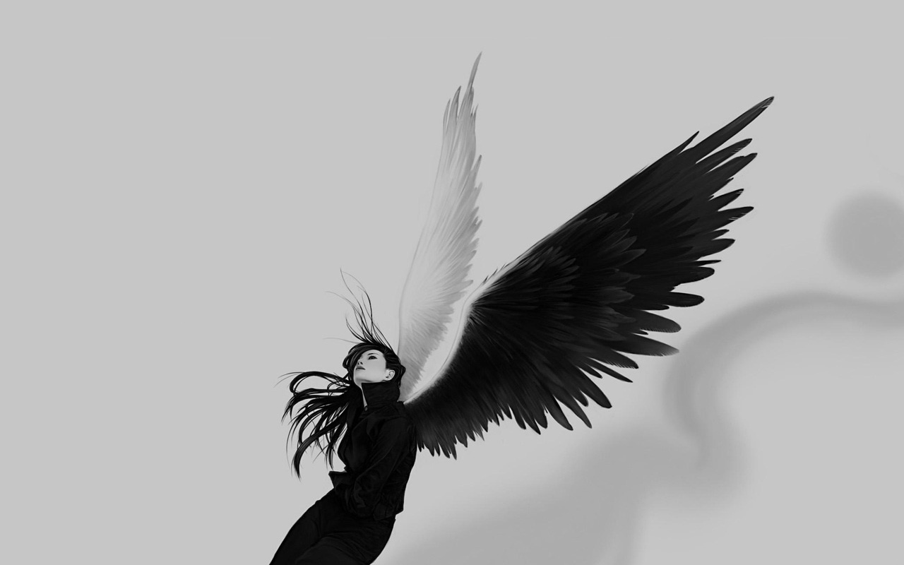 The Beauty Of Black And White images Black And White Angel ...