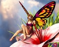 Butterfly Girl - cartoon-babes wallpaper