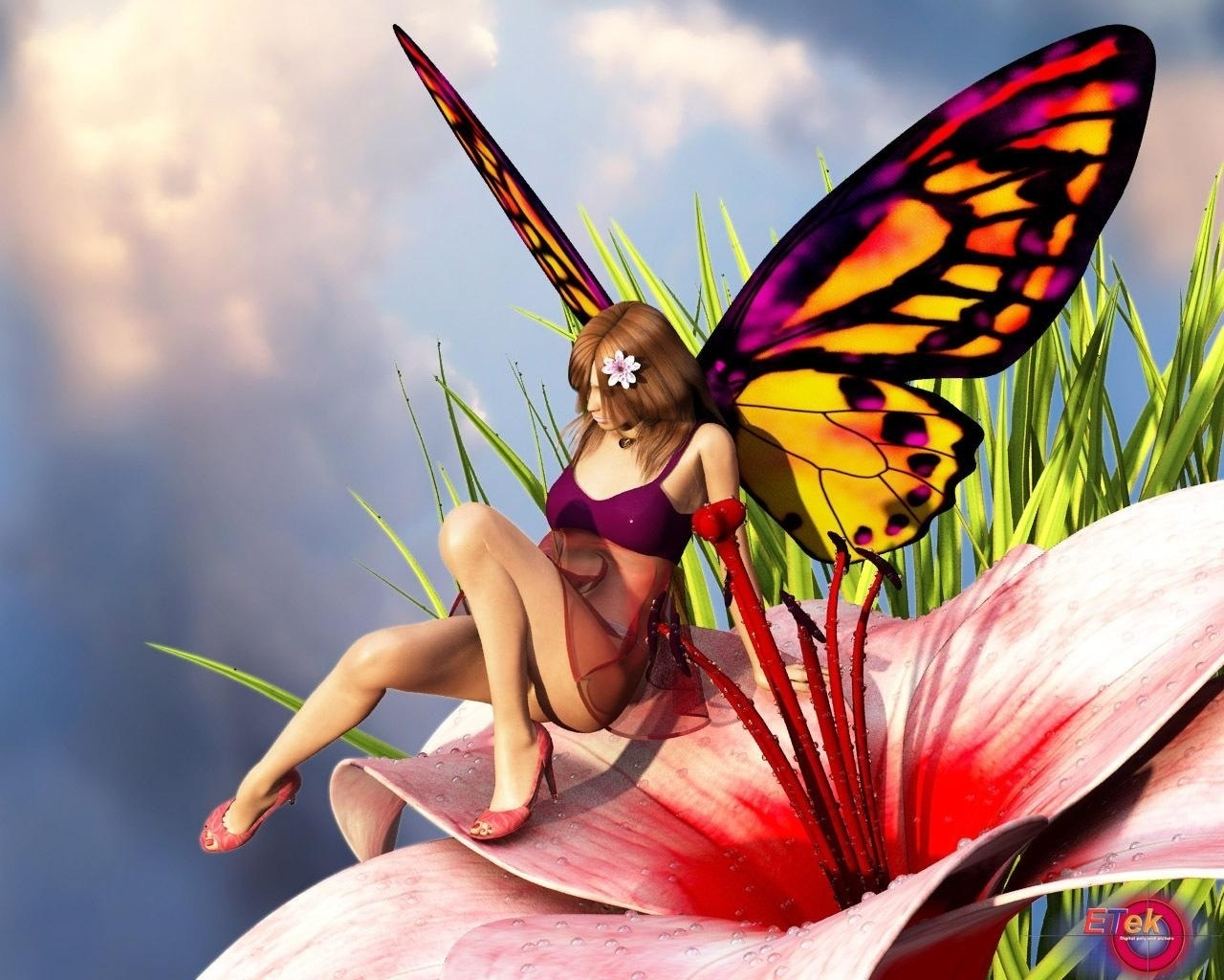 little girl butterfly wallpapers - photo #18