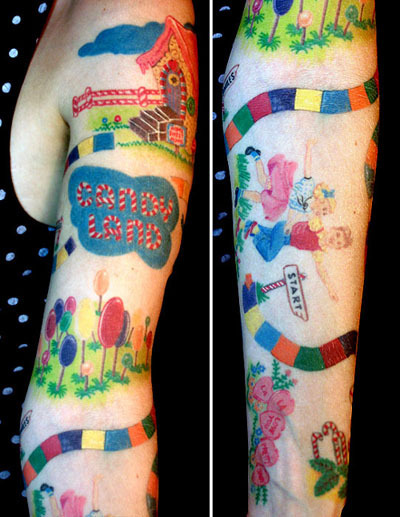 Candy tattoo