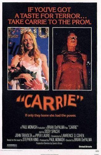 Carrie 1976 original film poster