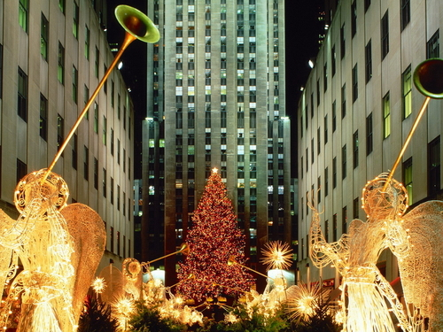 Christmas at Rockefeller  - christmas Wallpaper