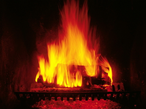 Christmas wallpaper entitled Crackling Fire