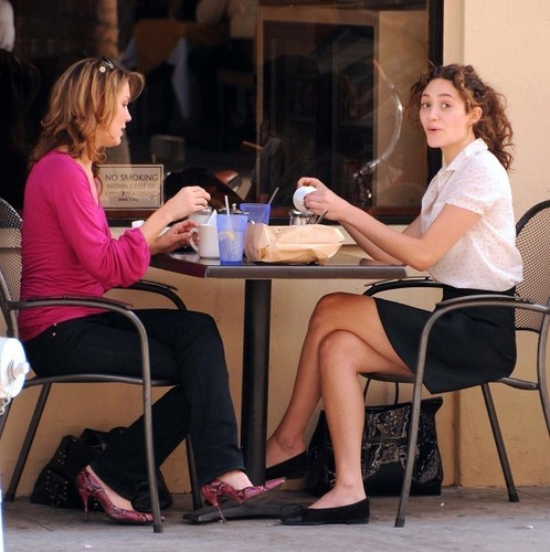 Emmy having lunch with a friend